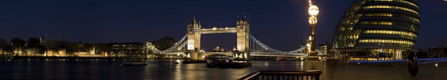 Het Panorama van Londen van Cantral Royalty-vrije Stock Fotografie