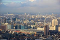Het Panorama van Londen Westminster Stock Afbeelding