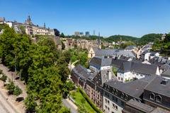 Het Panorama van Luxemburg Stock Foto