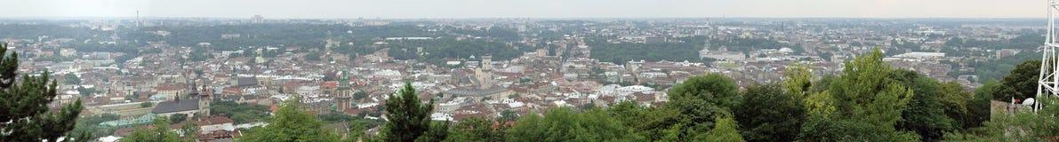 Het Panorama van Lvov royalty-vrije stock foto