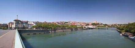 Het panorama van Lyon stock afbeeldingen