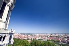 Het panorama van Lyon stock afbeelding