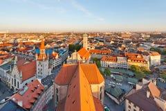 Het Panorama van München stock afbeelding
