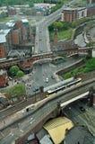 Het Panorama van Manchester het UK Stock Afbeeldingen