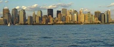 Het panorama van Manhattan Stock Afbeelding