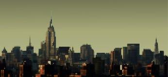 Het Panorama van Manhattan vector illustratie