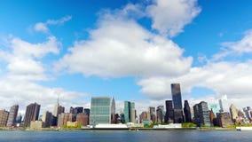 Het panorama van Manhattan stock video