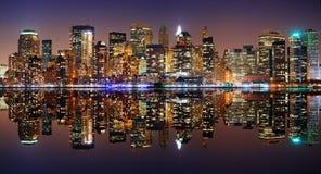 Het panorama van Manhattan, de Stad van New York Stock Fotografie
