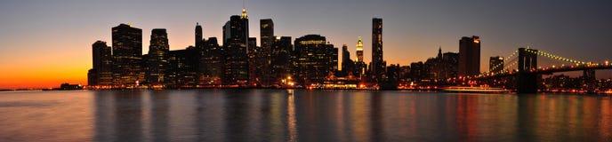 Het Panorama van Manhattan. De Stad van New York Royalty-vrije Stock Fotografie