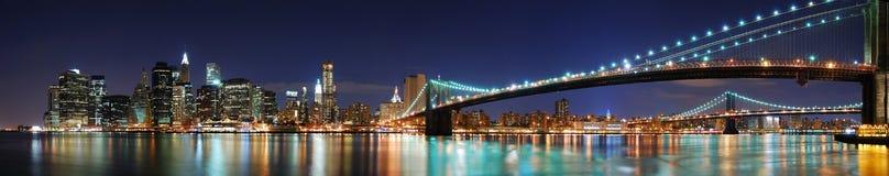 Het panorama van Manhattan van de Stad van New York Stock Afbeeldingen