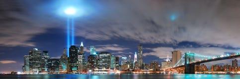 Het panorama van Manhattan van de Stad van New York Stock Afbeelding