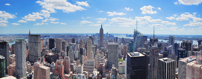 Het panorama van Manhattan van de Stad van New York Stock Foto