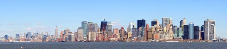 Het Panorama van Manhattan van de Stad van New York van de stad Stock Afbeelding