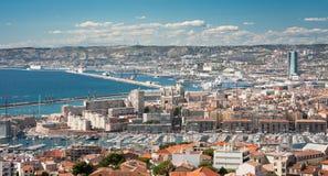 Het panorama van Marseille Stock Afbeelding