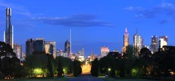 Het Panorama van Melbourne Stock Fotografie