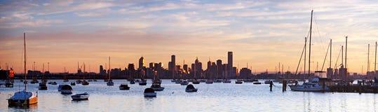 Het Panorama van Melbourne Royalty-vrije Stock Afbeeldingen