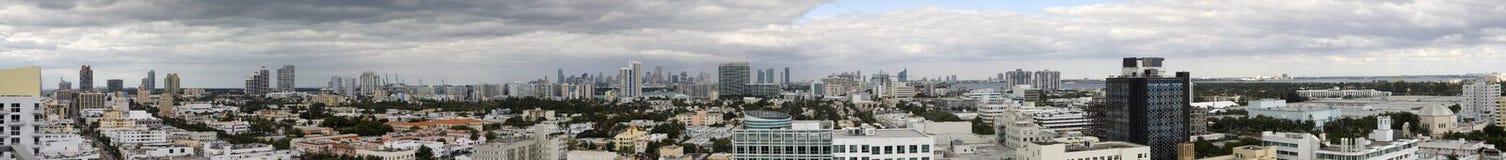 Het Panorama van Miami Stock Foto