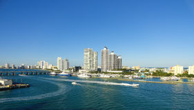 Het Panorama van Miami Biscayne Stock Fotografie