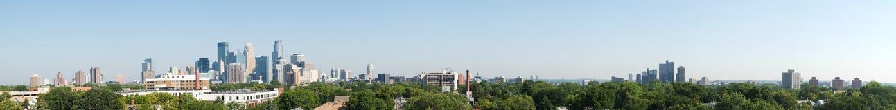 Het Panorama van Minneapolis Stock Afbeeldingen