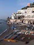Het panorama van Minori van het dorp Royalty-vrije Stock Foto
