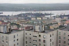 Het panorama van Moermansk Royalty-vrije Stock Afbeeldingen