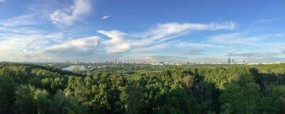 Het panorama van Moskou Stock Foto