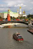 Het panorama van Moskou het Kremlin stock afbeelding