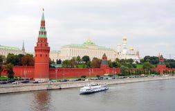 Het Panorama van Moskou het Kremlin De Plaats van de Erfenis van de Wereld van Unesco Royalty-vrije Stock Afbeelding
