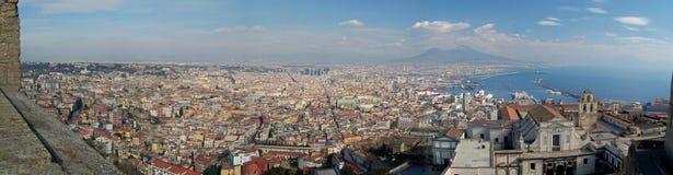 Het panorama van Napoli Stock Foto