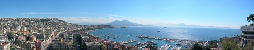 Het panorama van Napoli Royalty-vrije Stock Afbeelding