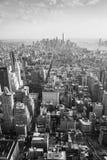 Het panorama van New York in zwart-wit Stock Foto