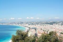 Het panorama van Nice (Frankrijk) Royalty-vrije Stock Fotografie