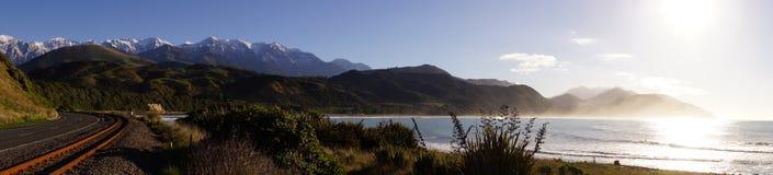 Het Panorama van Nieuw Zeeland Stock Foto's