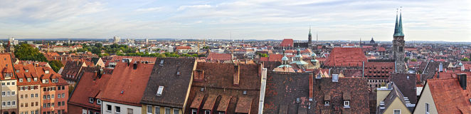 Het Panorama van Nuremberg Stock Afbeeldingen