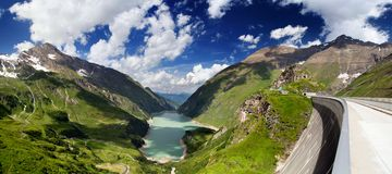Het panorama van Oostenrijk Kaprun Royalty-vrije Stock Afbeelding