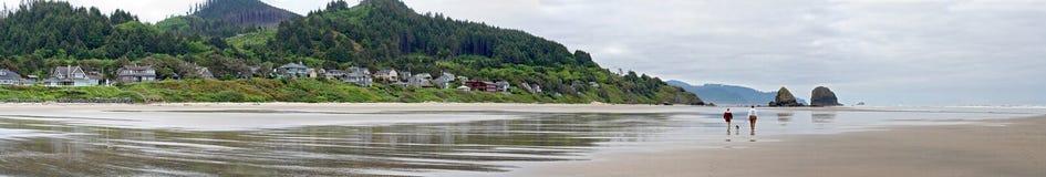 Het Panorama van Oregon van het Strand van het kanon royalty-vrije stock foto