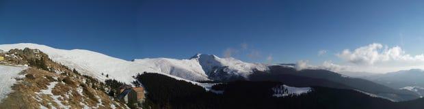 Het panorama van Parang in de winter Stock Foto's