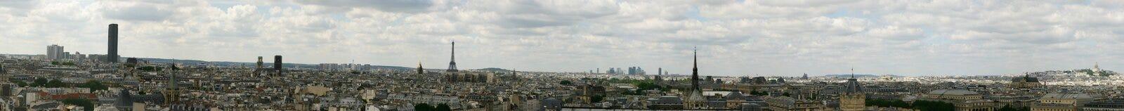 Het panorama van Parijs Stock Foto