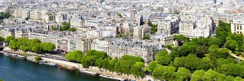 Het panorama van Parijs Stock Foto's