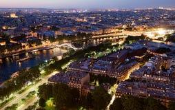 Het panorama van Parijs van de Toren van Eiffel Stock Foto's