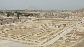 Het panorama van Persepolisruïnes stock video