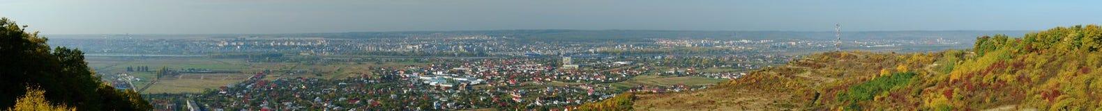 Het panorama van Pitesti royalty-vrije stock afbeeldingen