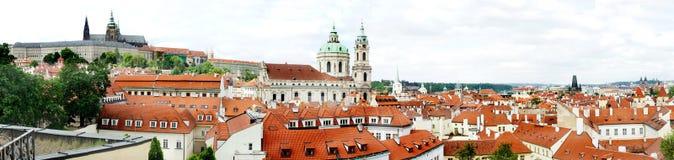 Het panorama van Praag Stock Afbeeldingen