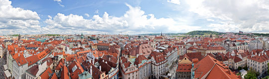 het panorama van Praag royalty-vrije stock foto's