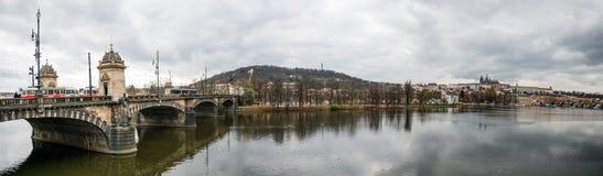 Het Panorama van Praag, Tsjechische Republiek Stock Foto's