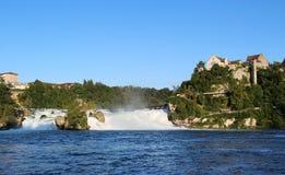 Het panorama van Rhinefall, Zwitserland Stock Foto