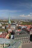 Het panorama van Riga stock afbeelding