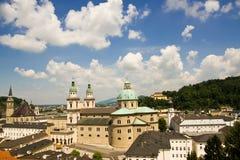 Het panorama van Salzburg Stock Afbeelding