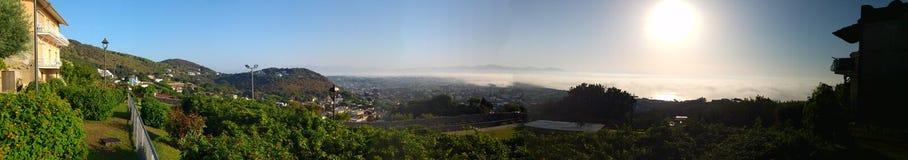 Het panorama van San Felice Circeo Stock Foto