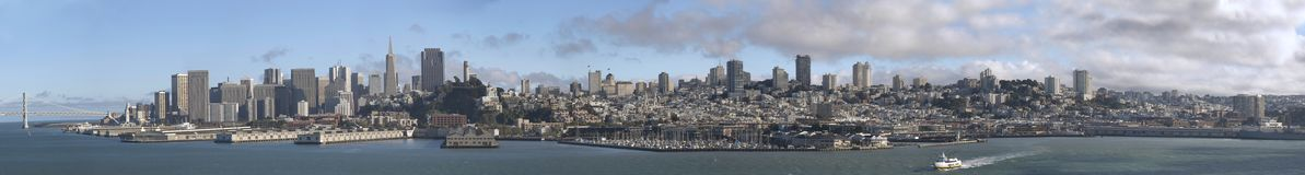 Het Panorama van San Francisco stock afbeelding